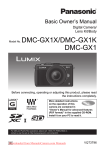 panasonic lumix dmc-gx1 User`s Manual