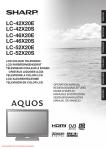 Sharp LC-42X20E user manual Tv User Guide Manual Operating