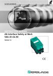 INSTRUCTION MANUAL AS-Interface Safety at Work VAA-2E
