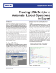 Creating LISA Scripts to Automate Layout Operations in