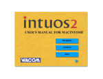 Intuos2 User`s Manual for Macintosh