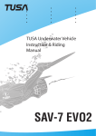 TUSA SAV-7 EVO2 Manual