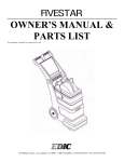 User Manual / Parts List