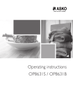 Operating instructions OP8631S / OP8631B