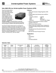 Sola 2000 Off-Line Uninterruptible Power Systems (UPS)