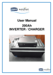 User Manual 200Ah INVERTER / CHARGER
