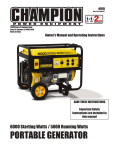 PORTABLE GENERATOR - Tractor Supply Company