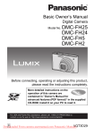 Panasonic Lumix DMC-FH20 User Guide Manual pdf