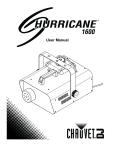 Hurricane™ 1600 User Manual Rev1 EN