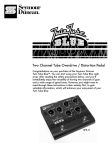 Seymour Duncan SFX-11 Twin Tube Blue User Manual