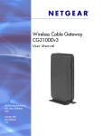 Wireless Cable Gateway CG3100Dv3