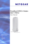 Broadband ADSL2+ Modem DM111PSP User Manual