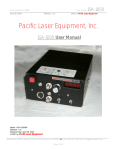 User Manual - Pacific Laser Equipment
