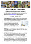 Ultimate Africa - Kenya Safari Information Document