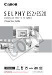 Canon Selphy ES2 User Guide Manual