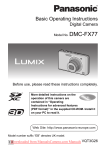 Panasonic Lumix DMC-FX77 User`s Manual