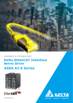 ASDA A2-E Series Delta EtherCAT Interface Servo Drive