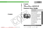 Canon PowerShot A650 User Guide Manual pdf