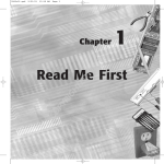 Chapter 1 Read Me First