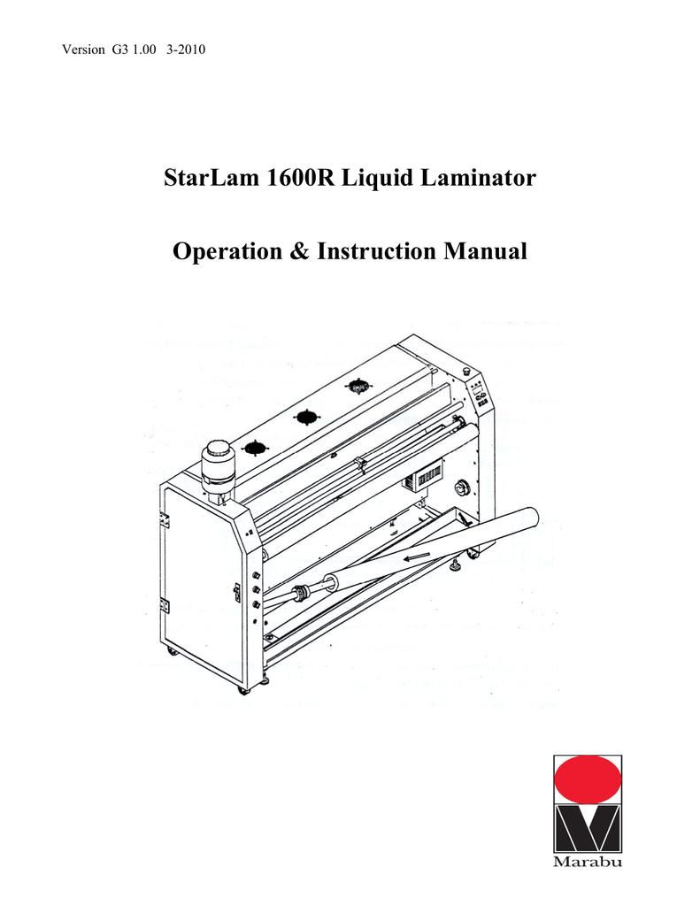 StarLam 1600R Liquid Laminator Operation on