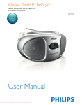 Philips AZ105 User Guide Manual - DVDPlayer