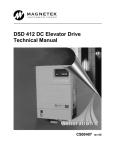 DSD 412 DC Elevator Drive Technical Manual