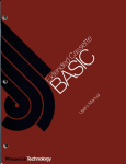 Extended Cassette BASIC User`s Manual