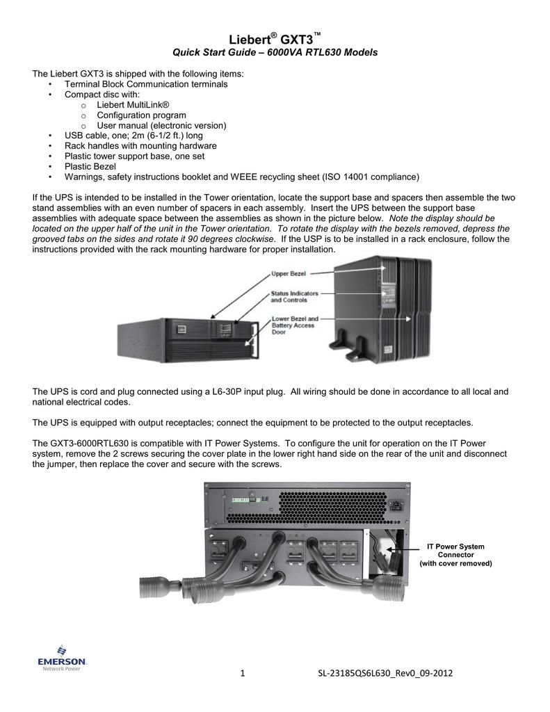 Liebert GXT3 - Emerson Network Power