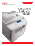 WorkCentre PE120/PE120i Evaluator Guide
