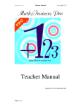 MathsTrainers Pro Teacher Manual