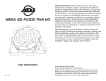 Mega Go Flood Par HO User Manual