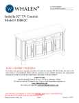 "Isabella 62"" TV Console Model # ISB62C"