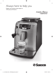 Saeco Intelia Deluxe HD8759/47 Espresso Machine User Manual