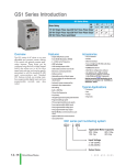 GS1 series of AC drives