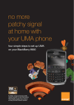 how to set up UMA on your BlackBerry 8900