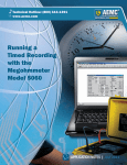 Running a Timed Recording with the Megohmmeter Model 5060