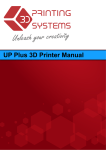 UP Plus 3D Printer User Manual v 2013.1.31