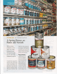 A Spring Primer on Paints and Varnish