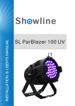 SL Parblazer 100 UV User Man