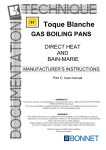Toque Blanche GAS BOILING PANS