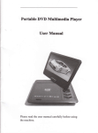 Portable D\ID Multimedia Player UserManual