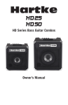 Owner`s Manual HD Series Bass Guitar Combos