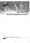 Real Time DVR SHR-2160/2162/2080/2082 User`s Manual