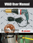 VRAD User Manual - Global Mining Products