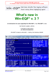 What`s new in Win-EQF* v. 3 ?