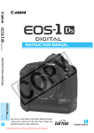 Canon EOS 1Ds User`s Manual