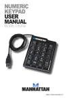 NUMERIC KEYPAD USER MANUAL