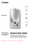 Canon Digital IXUS i5 User Guide Manual pdf