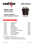 Red Lion SLX Series Manual
