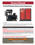 Owners Manual - Compressed Air Systems